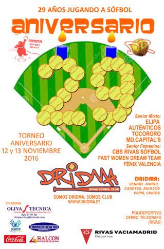 El club de sófbol Dridma celebra su XXIX aniversario