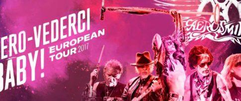 Cartel oficial de la gira 'Aero-Vederci Baby!'