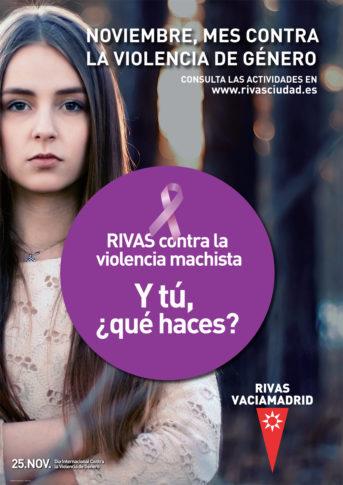 Rivas celebra en noviembre el mes contra la violencia machista (Cartel del Ayuntamiento)