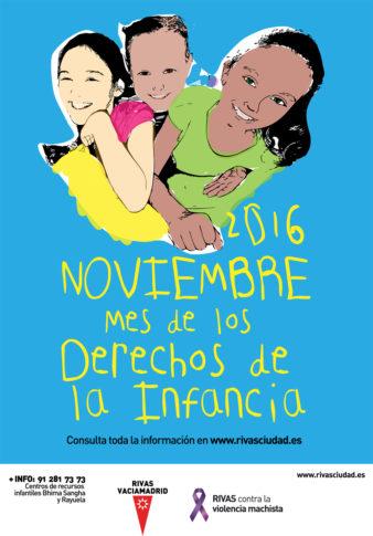 """""""La infancia por derecho"""" (Cartel del Consistorio de Rivas)"""