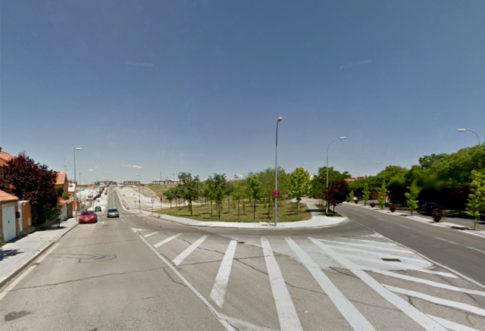 Confluencia de la Avenida de la Tierra con el Paseo de las Provincias (a la derecha), en cuyo entorno se construirá el CEIPSO (Foto archivo Rivas Actual)