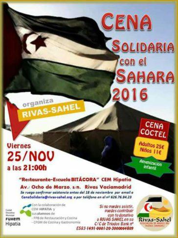 Rivas Sahel convoca su cena anual en beneficio del Sáhara
