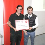 Ganador del concurso de Fotografía, Manuel Reyes, y David París ok
